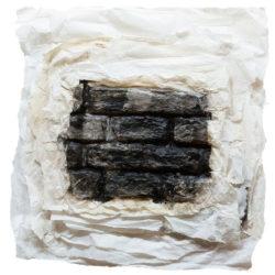 林延,明淨的雲,2014,墨、宣紙,61 × 61 × 5 cm