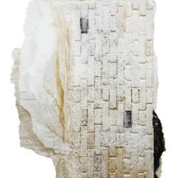林延,紀念碑 #8,2008,墨、宣紙,200 × 145 × 20 cm