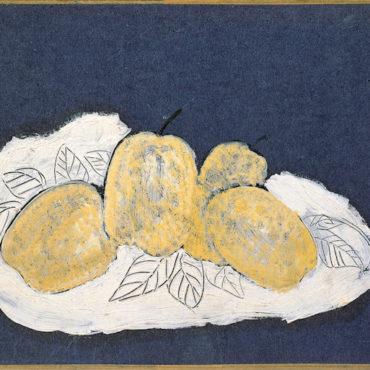 常玉,五個梨子,油彩、紙本、裱於畫布,23.5 x 31.8 cm