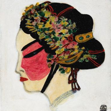 常玉,花旦,1940–50s,油彩、纖維板,33.6 x 31 cm