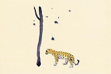 《向南飛 #12》,2014,水彩 / 宣紙,50 × 50 cm