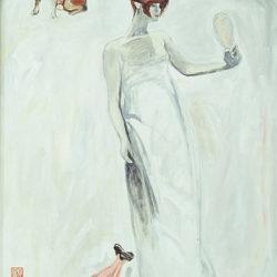顧福生,娃娃,1993,油彩,壓克力顏料/畫布,131 x 71 cm