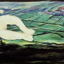 顧福生,美的生命,1994,油彩,壓克力顏料/畫布,49.5 x 121 cm