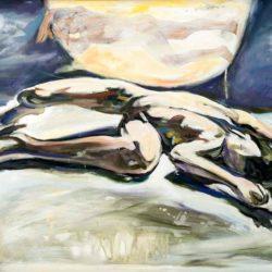顧福生,夢中再見,2001,油彩 / 畫布,60 x 80.5 cm