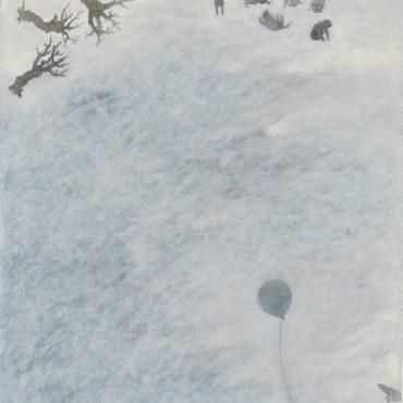 蘇旺伸,去年冬天,2017,油彩/畫布,65 x 50 cm