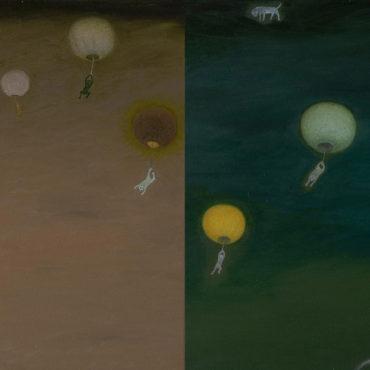 蘇旺伸,燈會,2018,油彩/畫布,46 x 66 cm